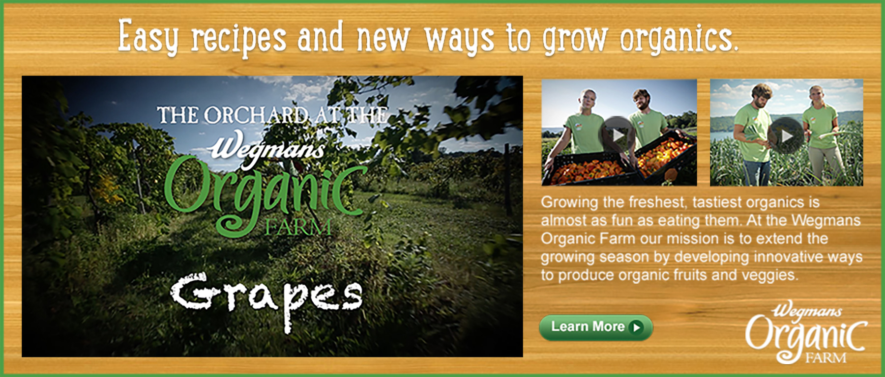 Wegmans Organic Farm Digital Video Production