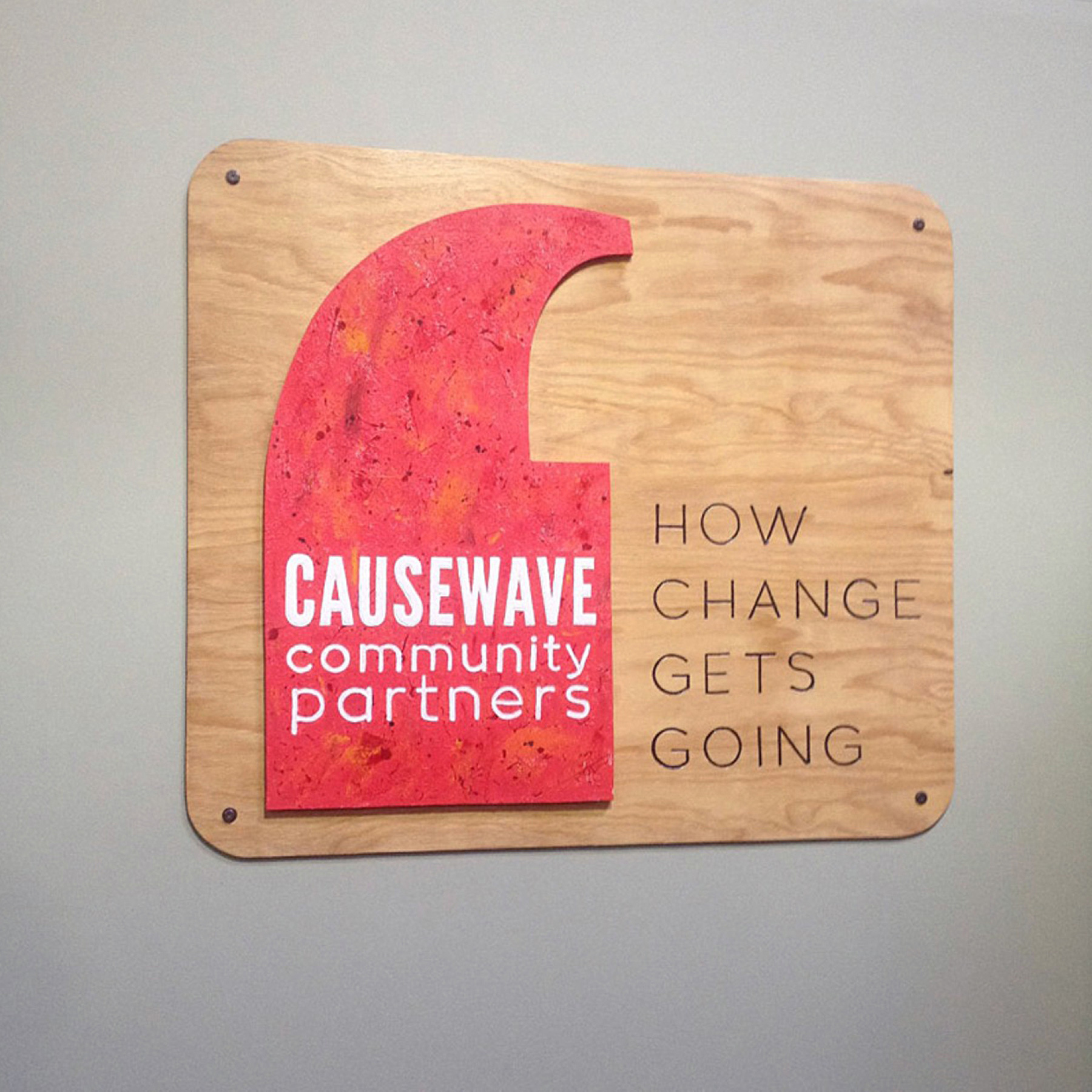 Causewave Logo Sign