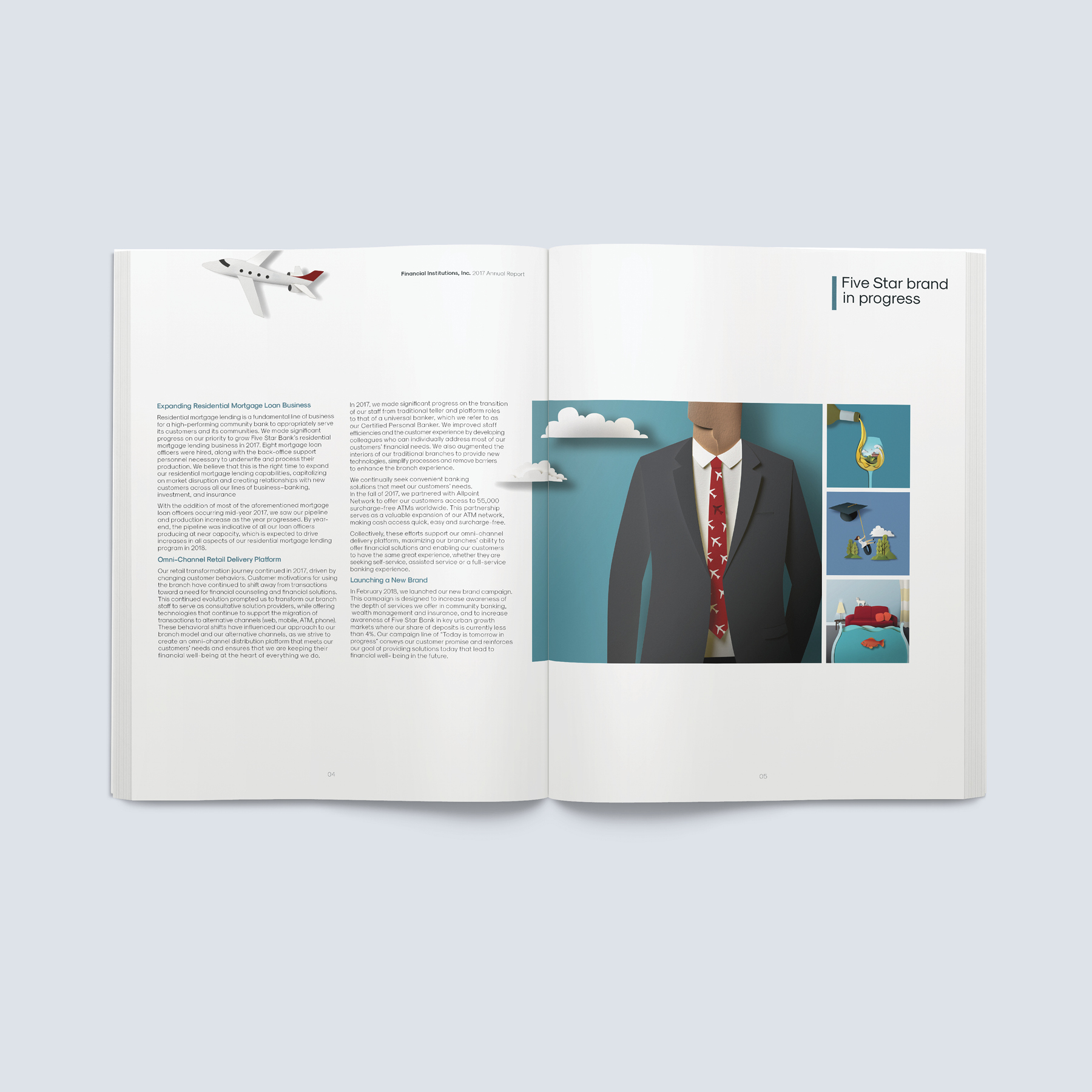 FSB Annual Report Print Production spread 1