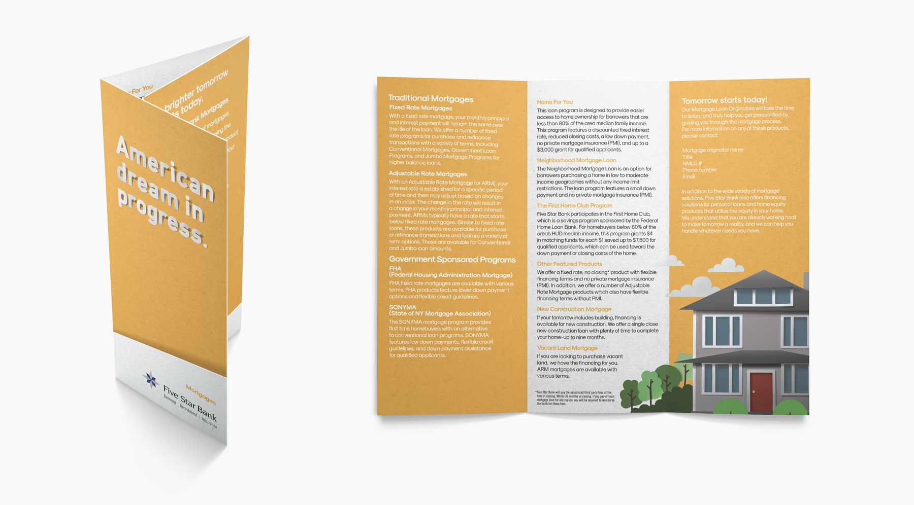 Five Star Brand Development Mortgage Brochure