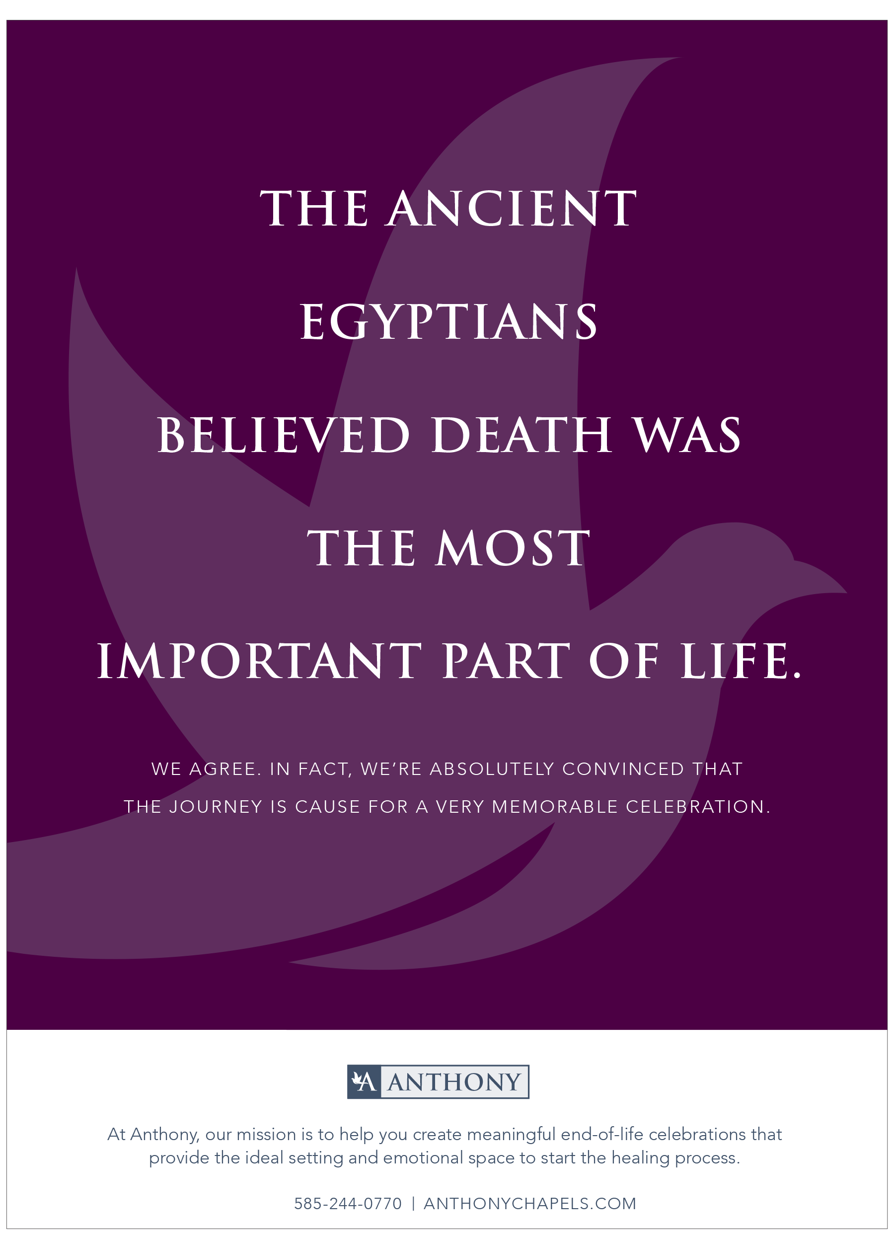 Anthony Print Ad- Egyptians