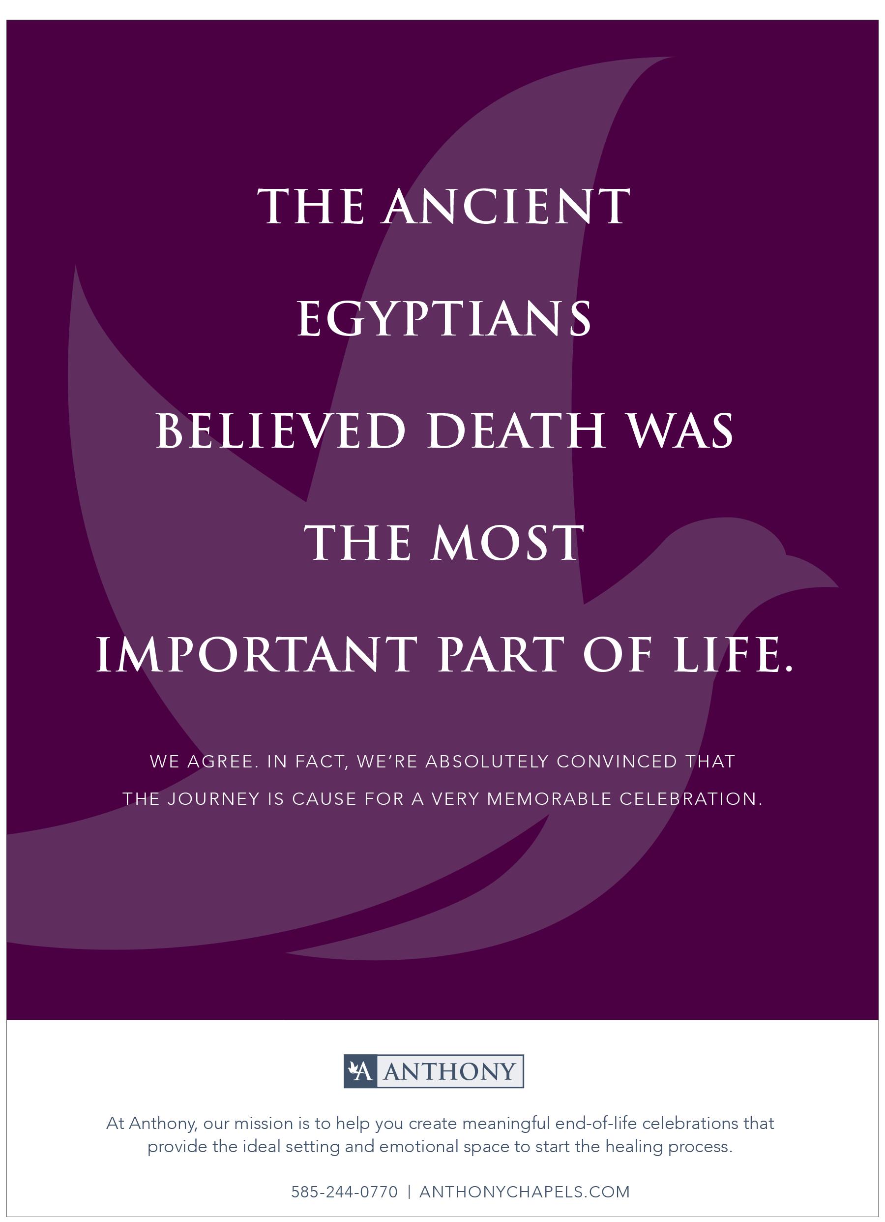 Anthony Print Ad- Egyptians