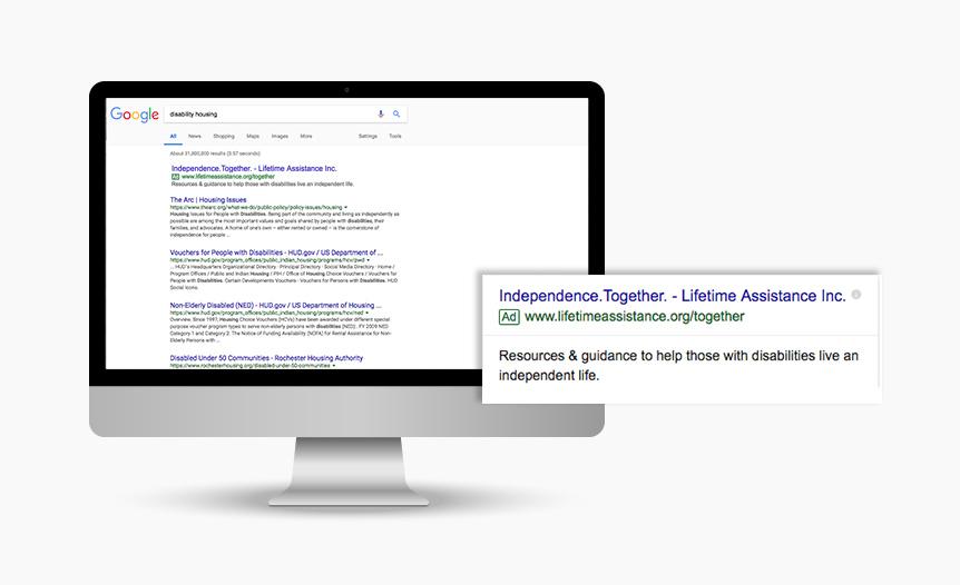 Lifetime Assistance Digital Advertising SEM